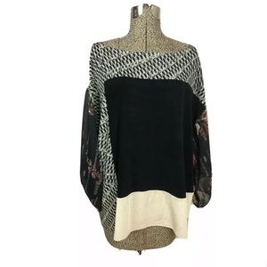 Chico's travelers blouse size 1 slinky colorblock